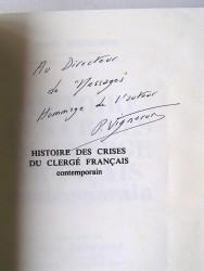 Paul Vigneron - Histoire des crises du clergé français contemporain