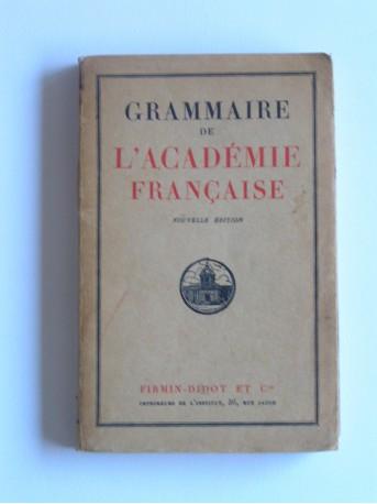 Collectif - Grammaire de l'Académie Française