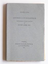 André Gide - Lettres à un sculpteur