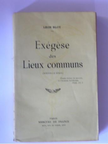 Léon Bloy - Exégèse des lieux communs. Nouvelle série