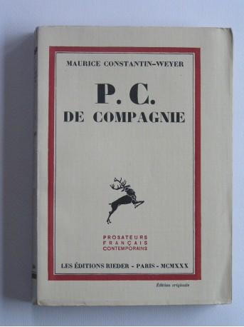 Maurice Constantin-Weyer - P.C. de compagnie