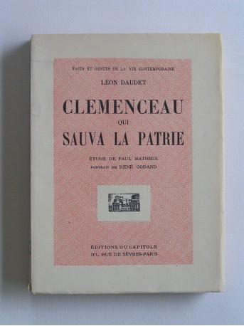 Léon Daudet - Clemenceau qui sauva la patrie