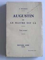 Augustin ou le maître est là. Tome 1