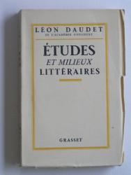 Etudes et milieux littéraires