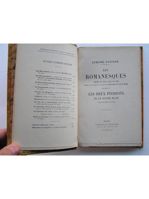 Les romanesques : comédie en trois actes en vers - Edmond Rostand