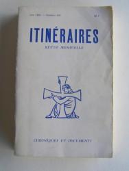 Collectif - Itinéraires n°264. Chroniques et documents. Vingt ans après. 1962 - 1982