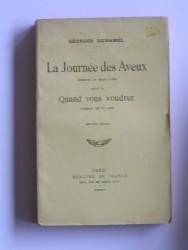 Georges Duhamel - La journée des aveux