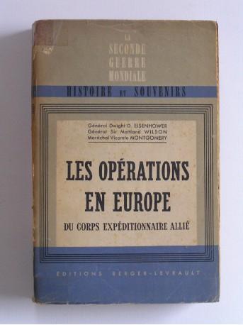 Collectif - Les oppérations en Europe du Corps Expéditionnaire Allié