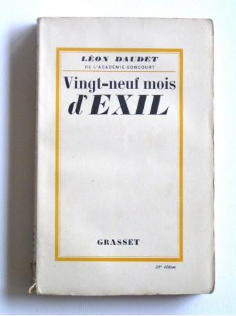 Léon Daudet - Vingt-neuf mois d'exil