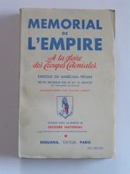 Mémorial de l'Empire. A la gloire des troupes coloniales