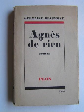 Germaine Beaumont - Agnès de rien